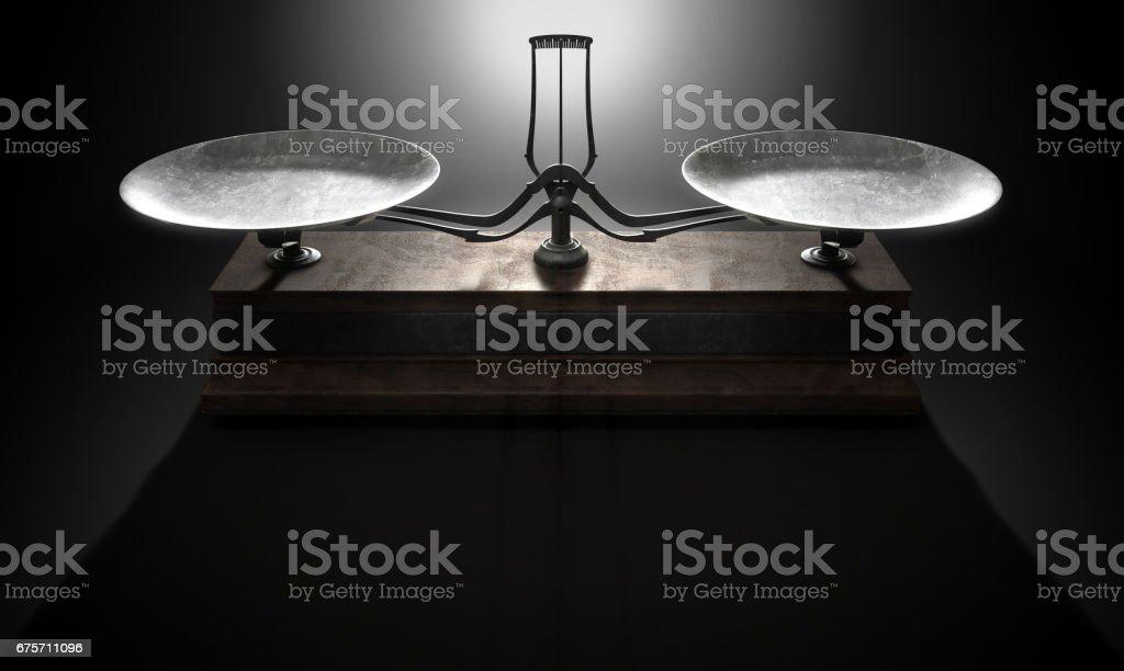 平衡規模比較 免版稅 stock photo
