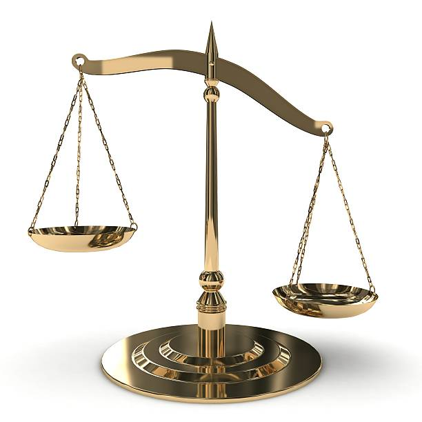 balance-waage - waage der gerechtigkeit stock-fotos und bilder
