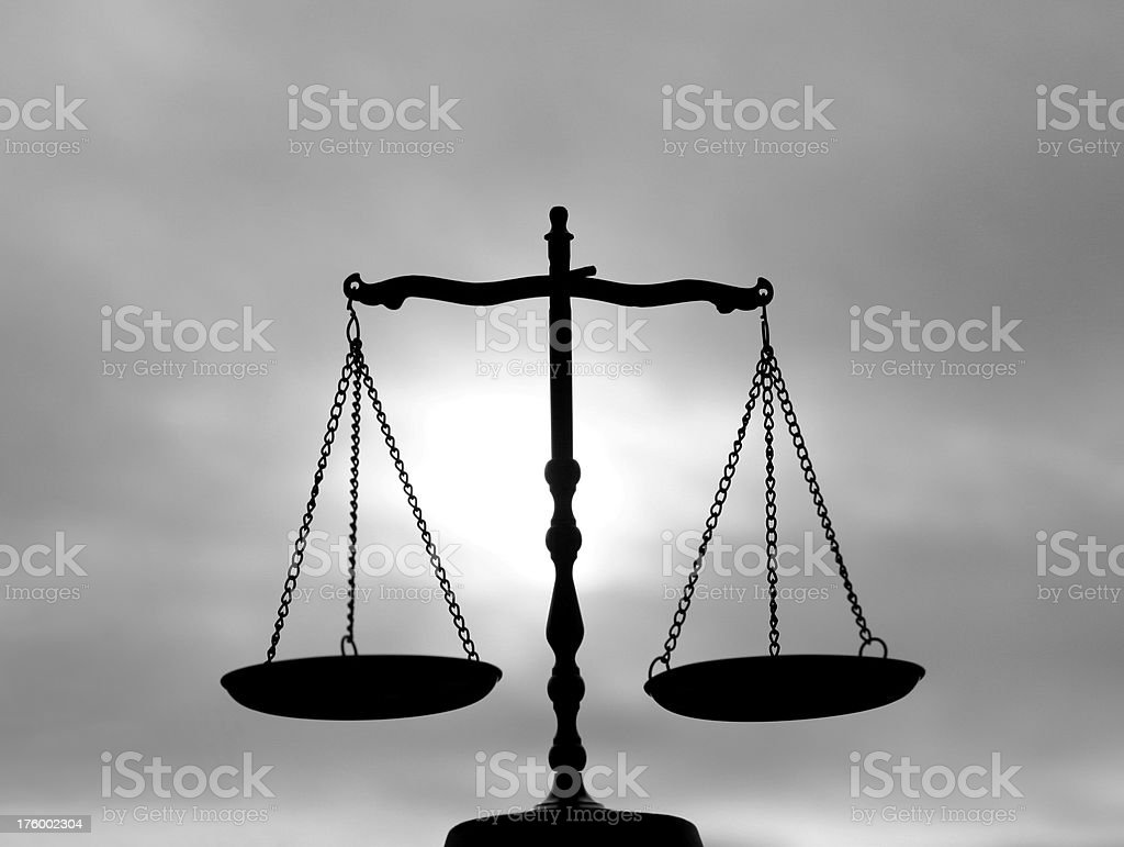 Balance Scale With Dynamic Sky royalty-free stock photo