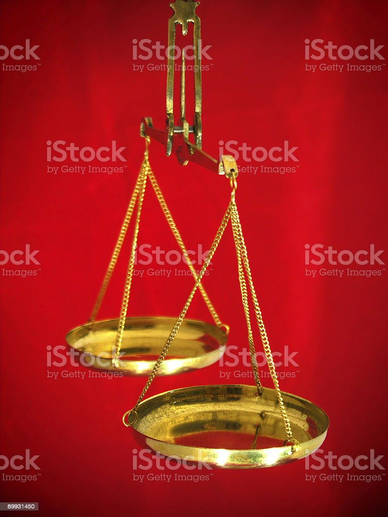 Balance Scales royalty-free stock photo
