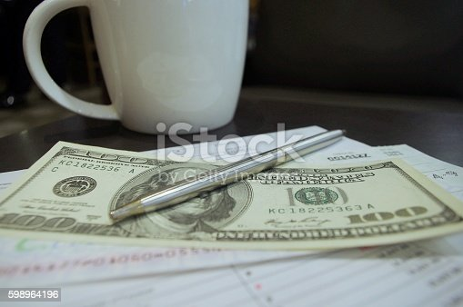 490632340 istock photo Balance Sheet Bank Checks 598964196