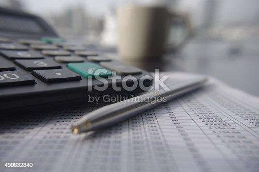 istock Balance sheet 490632340