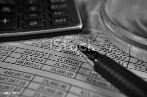 490632340 istock photo Balance sheet 643327920