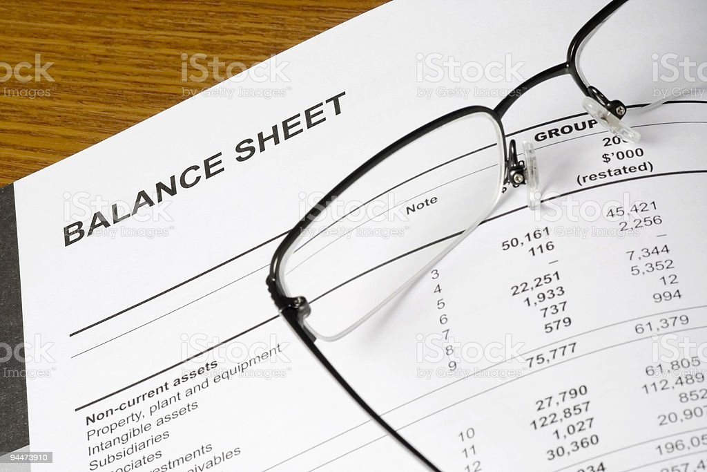 Balance sheet  Analyzing Stock Photo