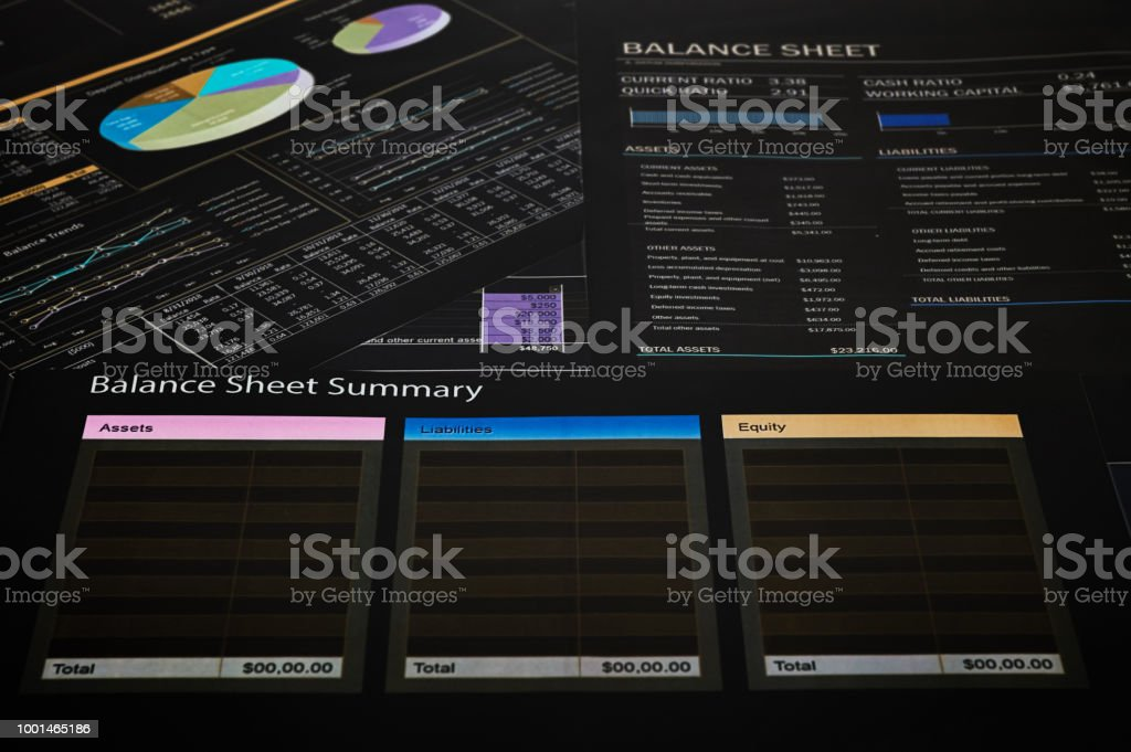 balance sheet summary stock photo more pictures of abstract istock