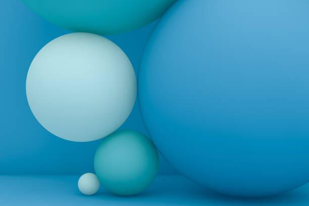 balance spheres, minimal concept - balance graphics foto e immagini stock