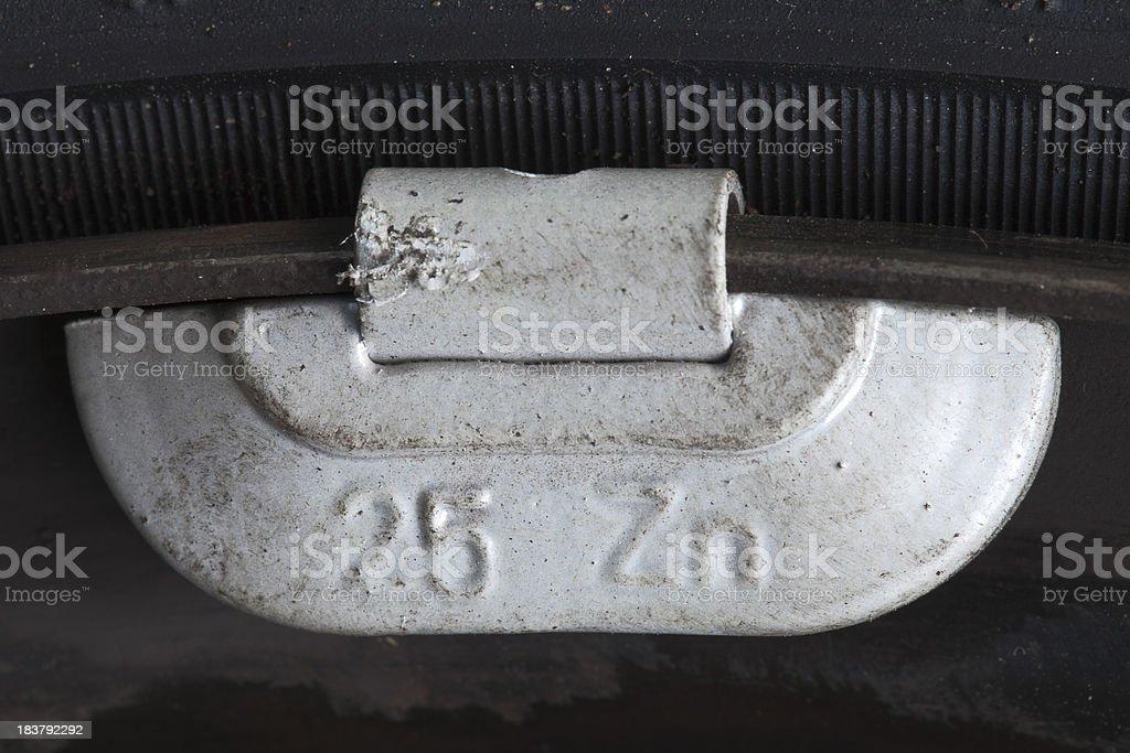 Balance Weight on Wheel stock photo