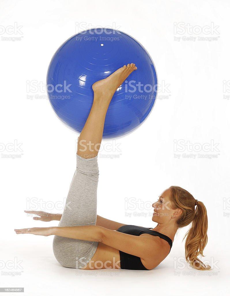 balance with ball royalty-free stock photo