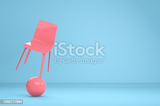 1095218088 istock photo Balance with Chair, Minimal Concept 1095217994