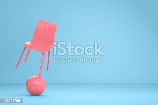 876632832 istock photo Balance with Chair, Minimal Concept 1095217994
