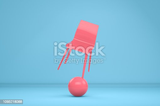 1095218088 istock photo Balance with Chair, Minimal Concept 1095218088