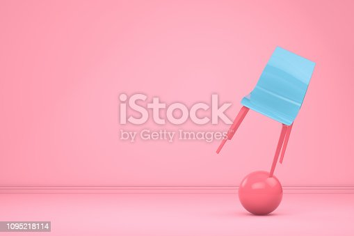 istock Balance with Chair, Minimal Concept 1095218114