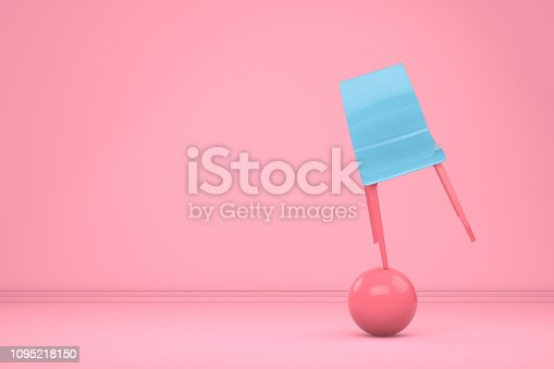 1095218088 istock photo Balance with Chair, Minimal Concept 1095218150