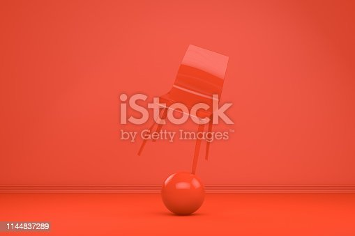 1095218088 istock photo Balance with Chair, Minimal Concept 1144837289