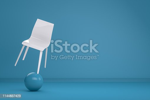 1095218088 istock photo Balance with Chair, Minimal Concept 1144837423