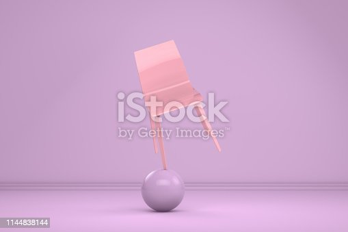 1095218088 istock photo Balance with Chair, Minimal Concept 1144838144
