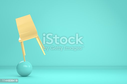 1095218088 istock photo Balance with Chair, Minimal Concept 1144838418