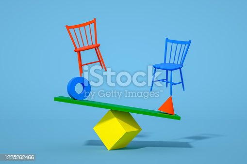 1095218088 istock photo Balance with Chair, Minimal Concept 1225262466