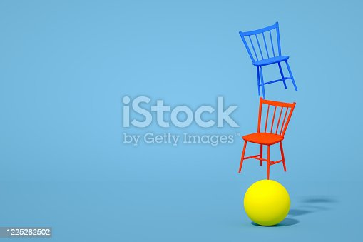 1095218088 istock photo Balance with Chair, Minimal Concept 1225262502