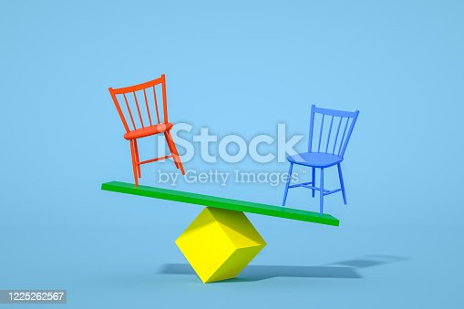 1095218088 istock photo Balance with Chair, Minimal Concept 1225262567