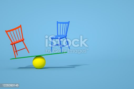 1095218088 istock photo Balance with Chair, Minimal Concept 1225263145