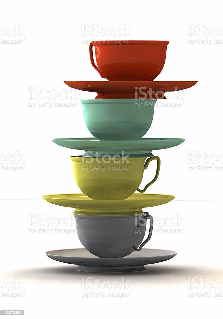 Balanced Cups royalty-free stock photo