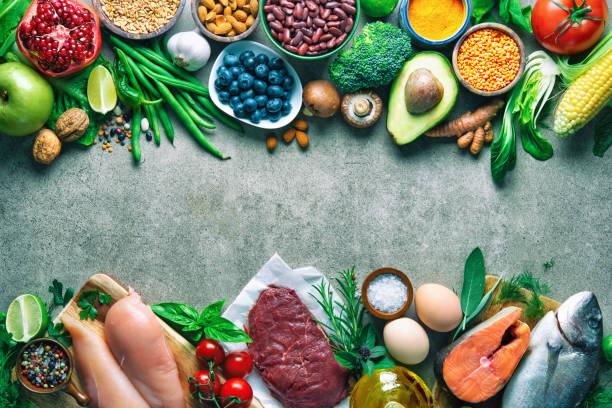 均衡飲食背景 - 材料 個照片及圖片檔