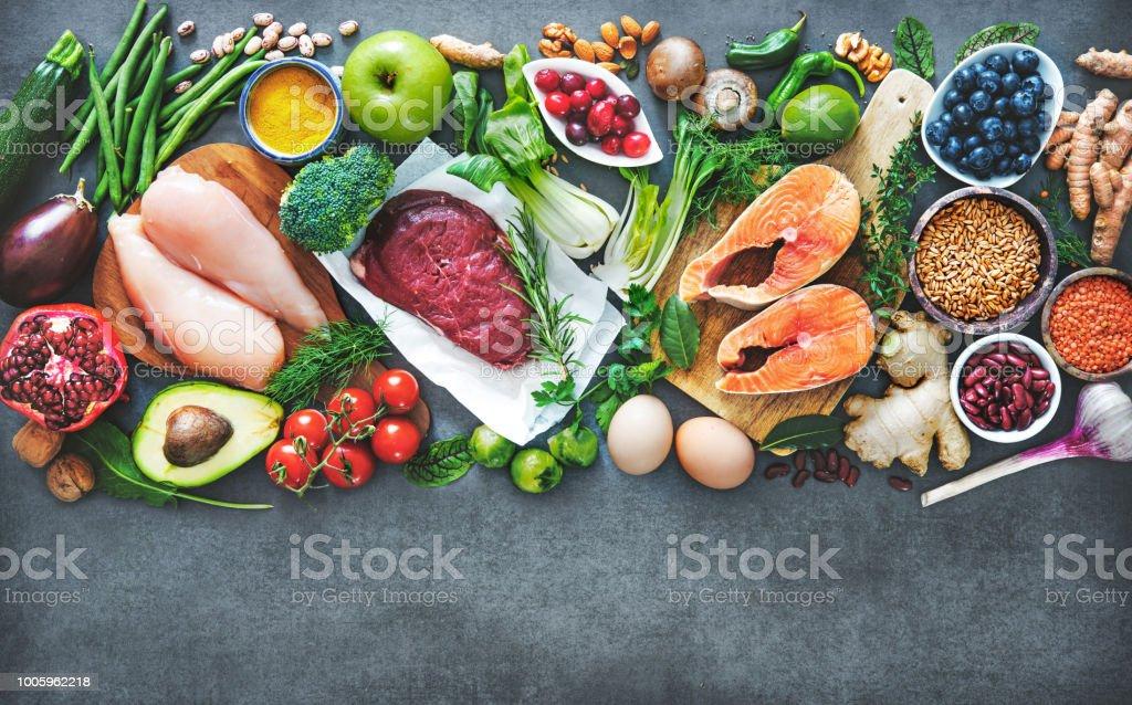 Ausgewogene Ernährung Essen Hintergrund – Foto