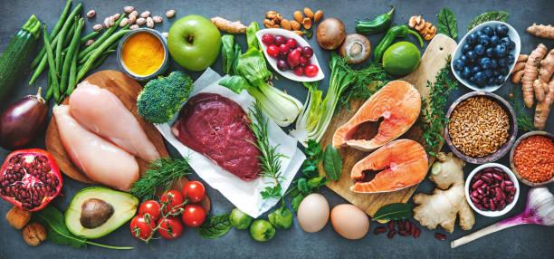 balanced diet food background - kapustowate zdjęcia i obrazy z banku zdjęć