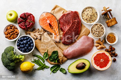 istock Balanced diet Organic Healthy food Clean eating selection Including Certain Protein Prevents Cancer 931193062