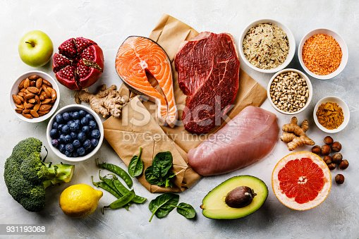 istock Balanced diet Organic Healthy food Clean eating selection 931193068