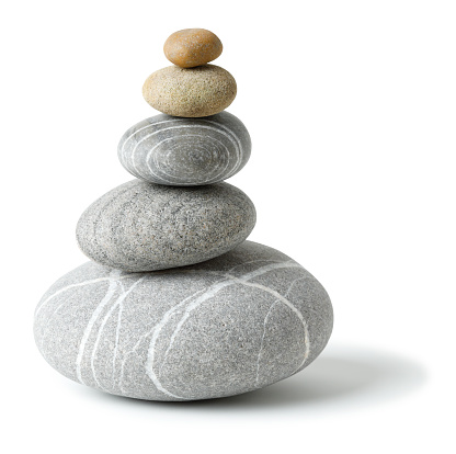 Balanced Stone pile with clipping path