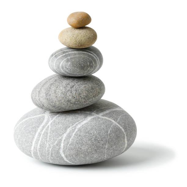 Ausgeglichener grauer Steinhaufen – Foto