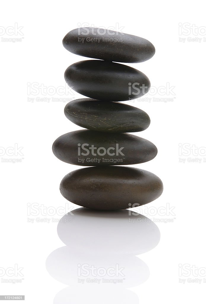 Balanced Pebbles stock photo