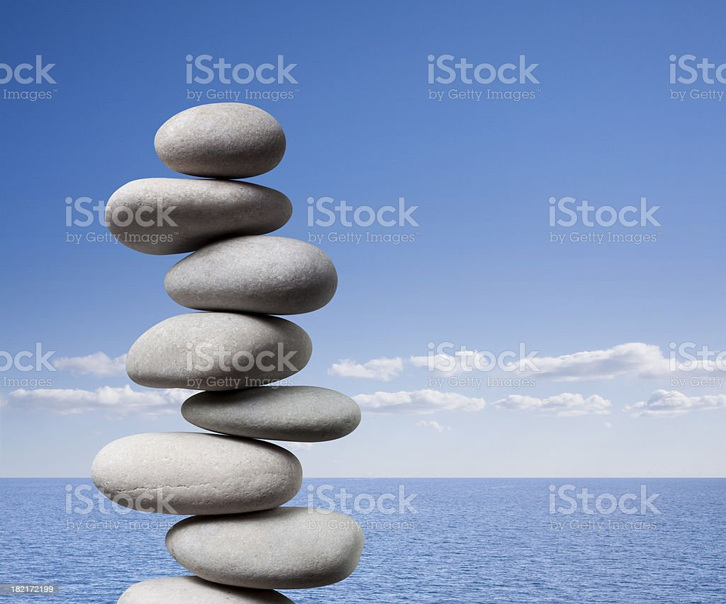 Balanced pebbles - Royalty-free Agreement Stock Photo