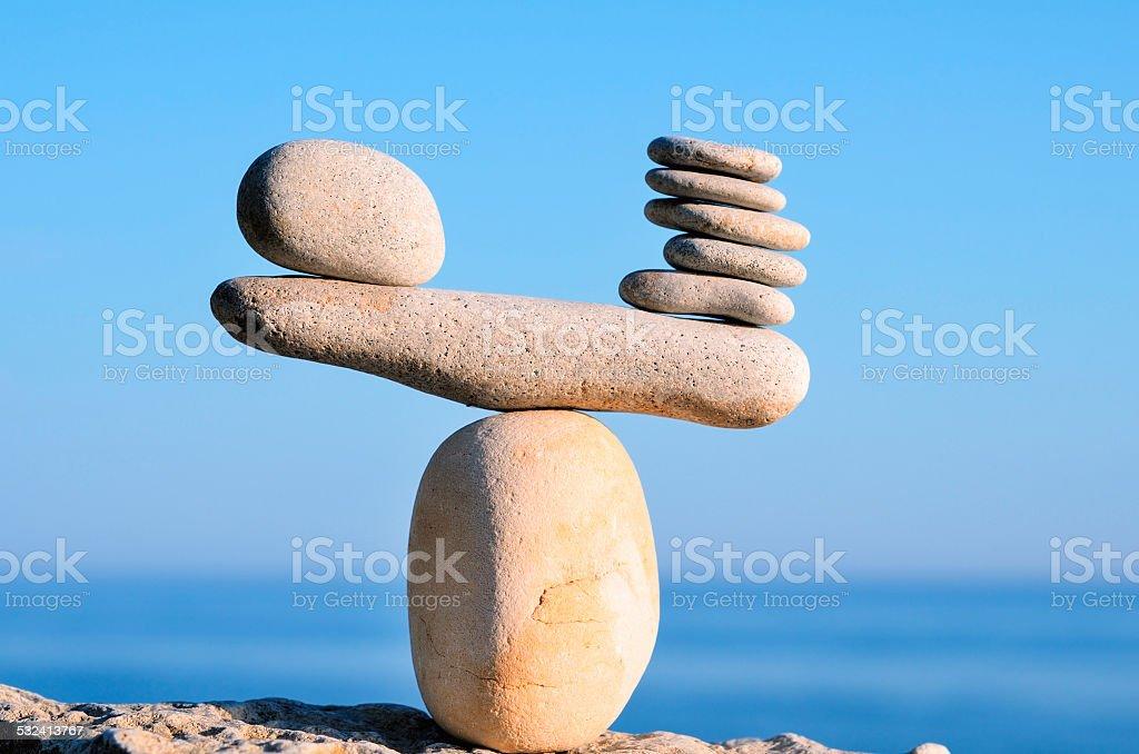 Balanced stock photo