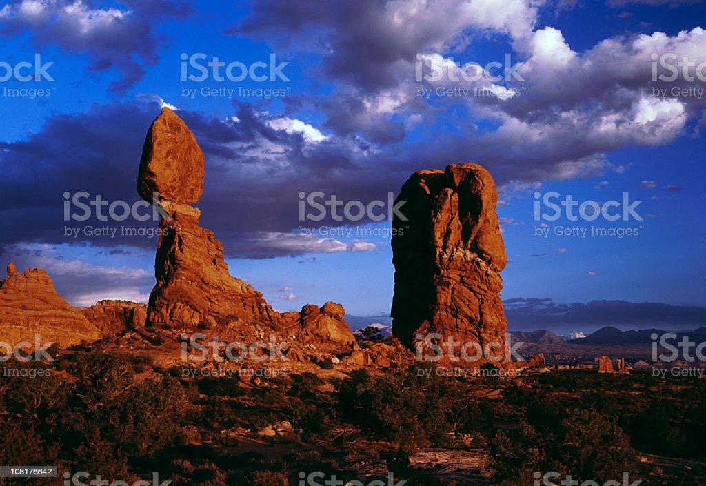 Balanced Rock, Arches National Park, Moab Utah royalty-free stock photo