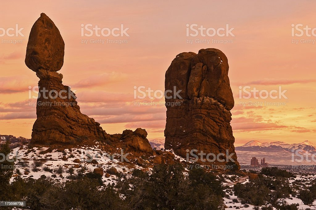 Balanced Rock, Arches National Park stock photo