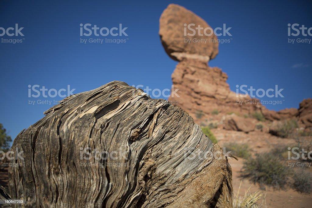 Balanced Rock at Moab royalty-free stock photo