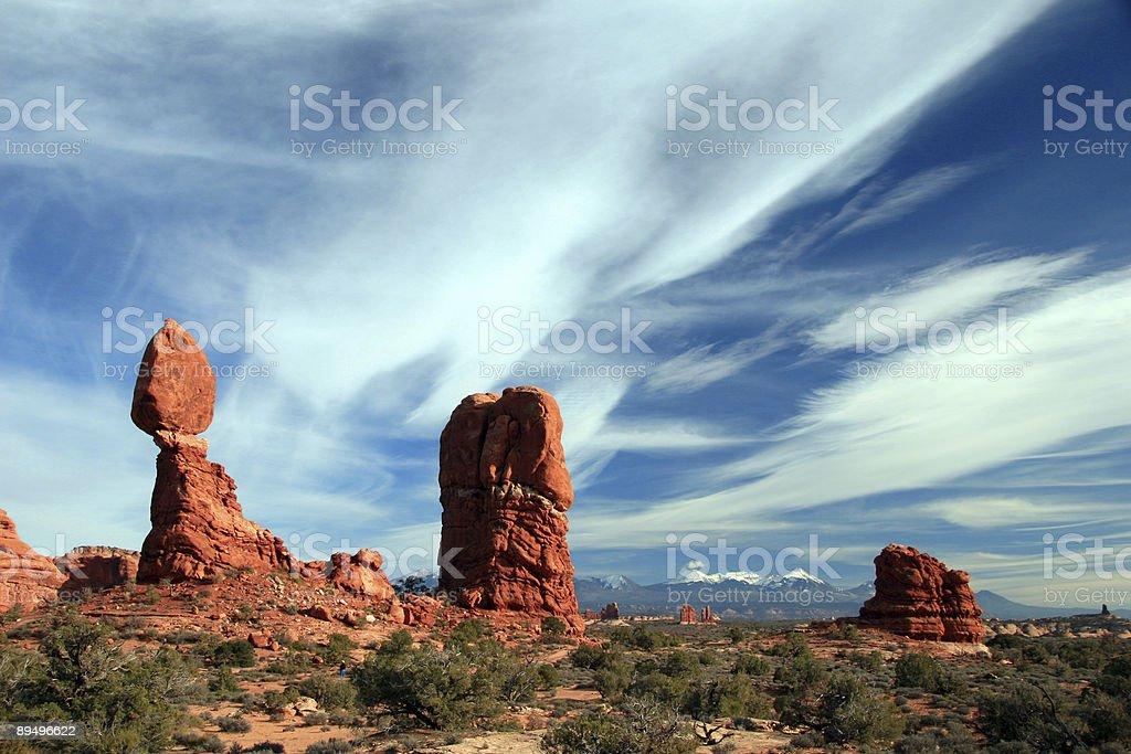 Balanced Rock nel Parco Nazionale degli Archi foto stock royalty-free