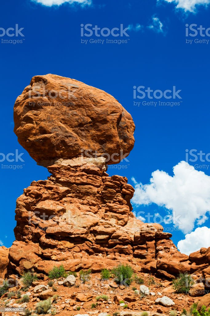 Balanced Rock in Arches National Park, Utah, USA royalty-free stock photo
