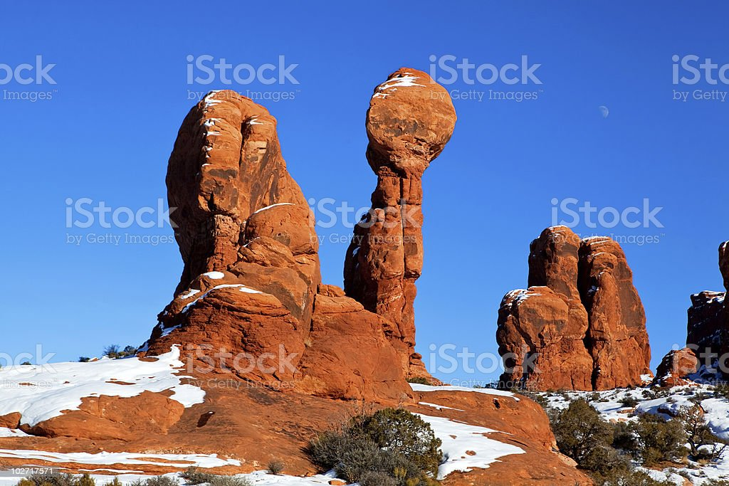 Balanced rock royalty-free stock photo
