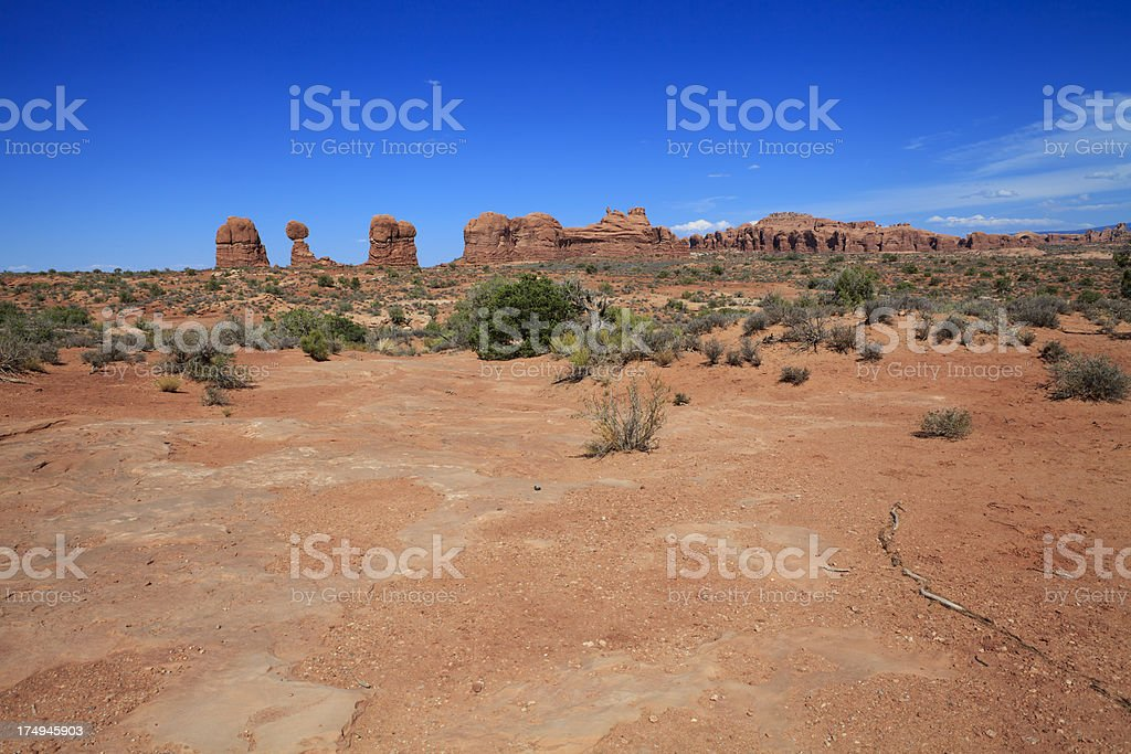 Balanced Rocks at Arches National Park royalty-free stock photo