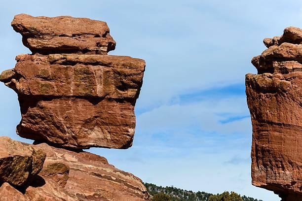 Balanced Rocky, Garden of the Gods, Colorado Springs stock photo