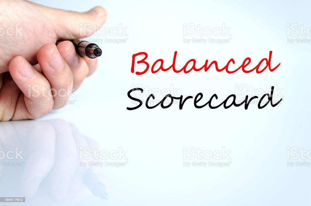 Balanced scorecard Text Concept stock photo