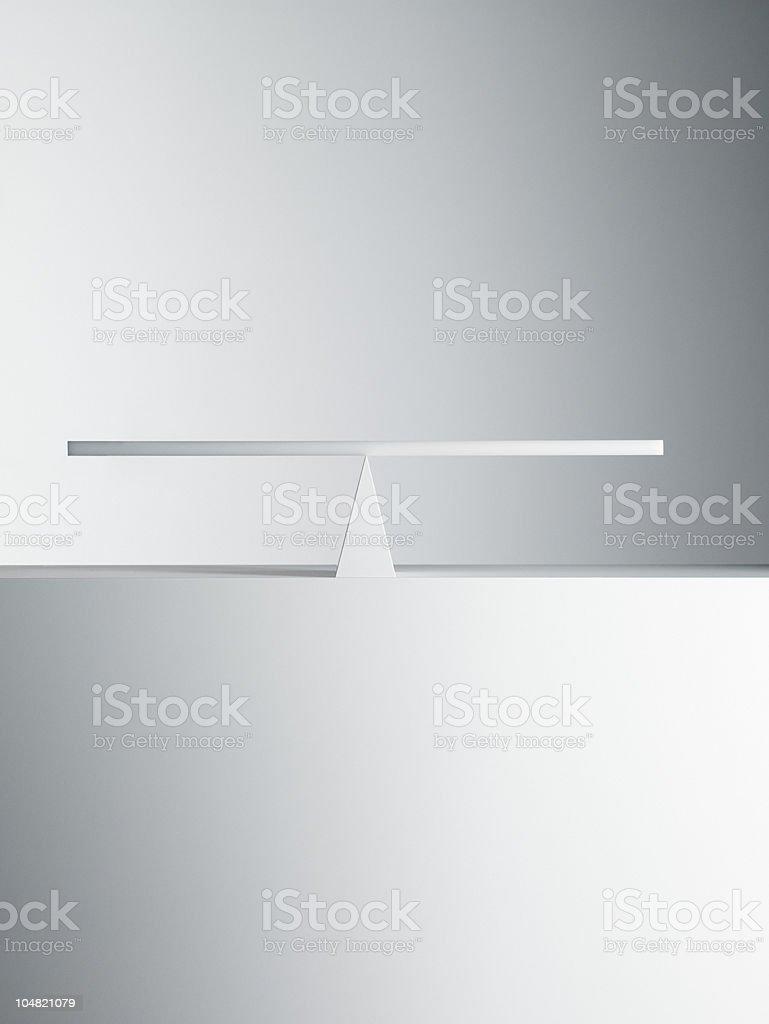 Balanced seesaw bildbanksfoto