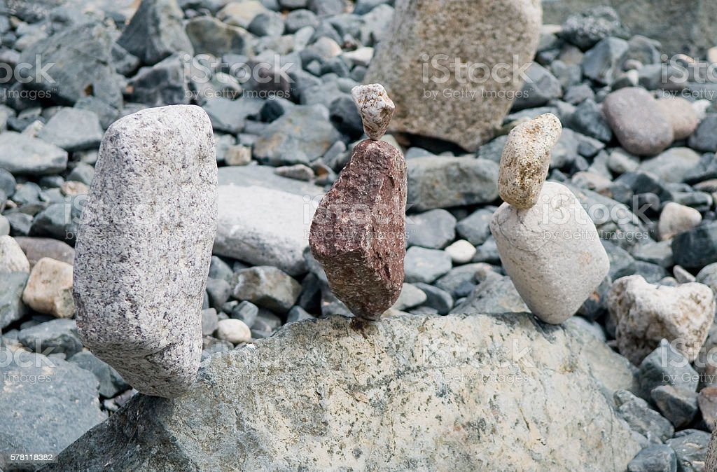 Ausgewogenen Steine – Foto