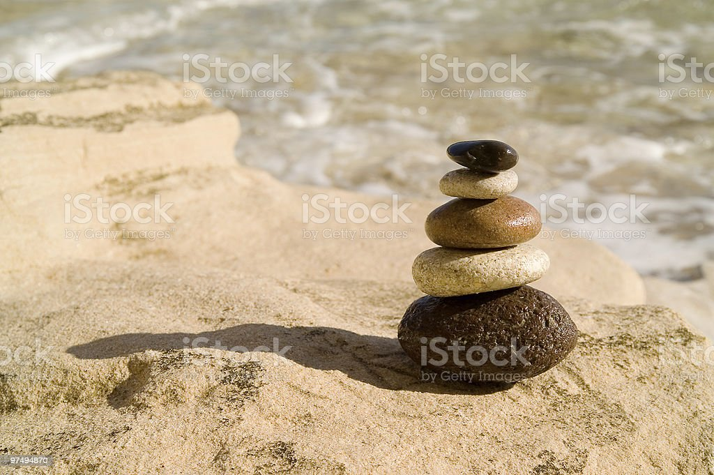 Balanced stones royalty-free stock photo