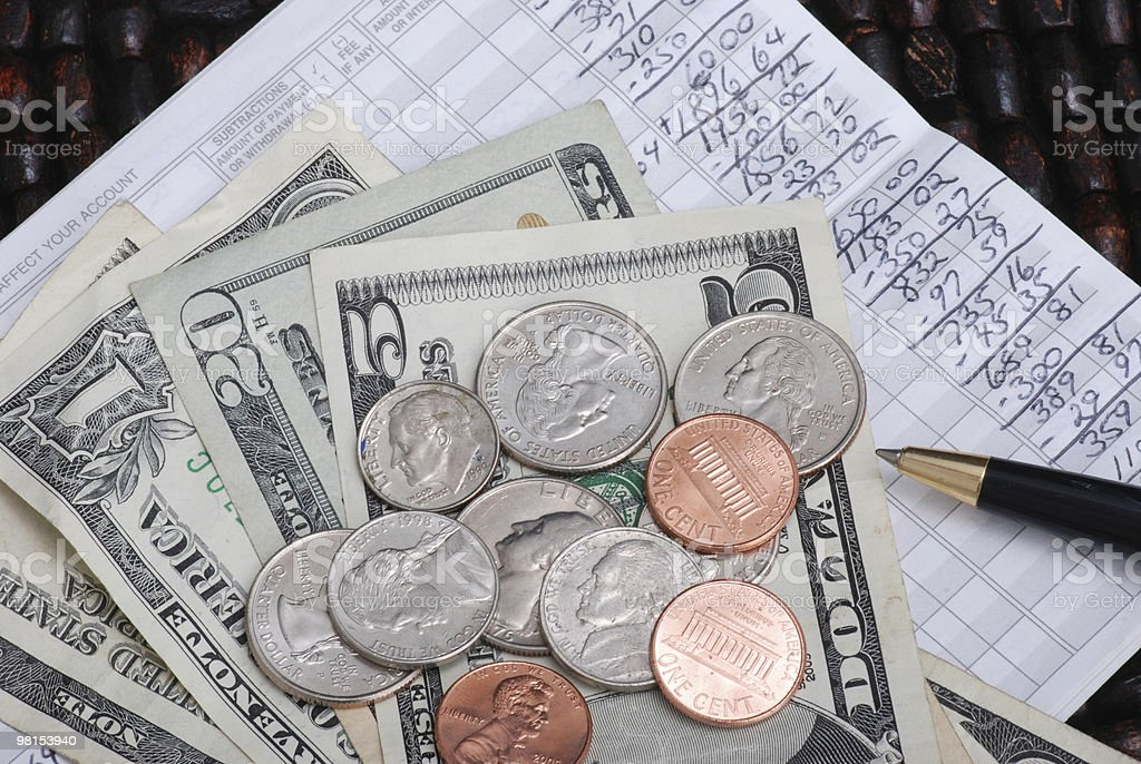 Balancing a Checkbook royalty-free stock photo