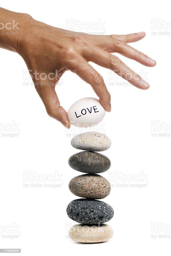 Balancing Act - Love royalty-free stock photo